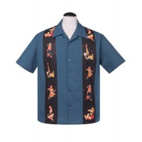 Steady - Blue Multi Pinups Shirt