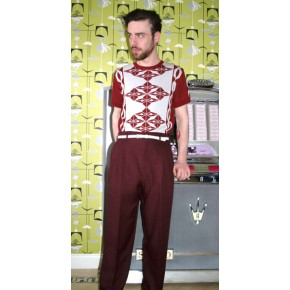 Burgundy High Waisted Trousers