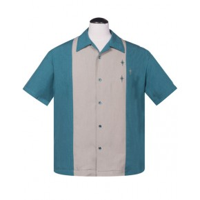 Steady - Teal Crosshatch Shirt