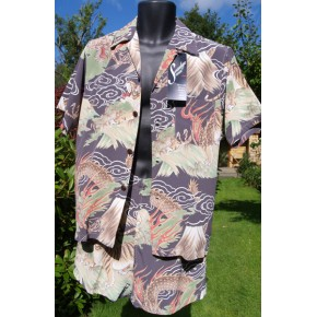 Swankys - Brown Hawaiian Cabana Set