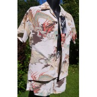 Swankys - Cream Hawaiian Cabana Set