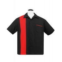 Steady - Black/Red Poplin Shirt