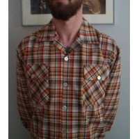 Red Plaid Long Sleeve Gab Shirt