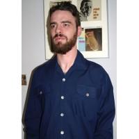 Long Sleeved Blue Gab Shirt