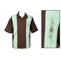 Steady - Brown Sammy Bowling Shirt