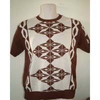 Brown Argyll Knit