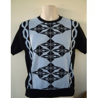 Navy Argyll Knit