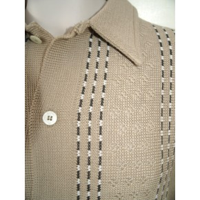 Beige Long Sleeved Knitted Shirt