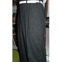 Black Fleck High Waisted Trousers