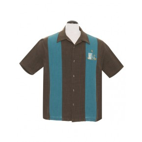 Steady - Mickey Teal Tiki Shirt