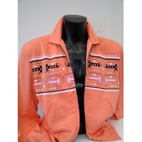 Pale Orange Dragons/Dogs Gab Jacket
