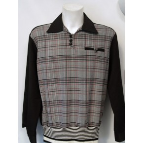 Black/Plaid L/Sleeve Gaucho Shirt