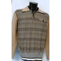 Beige/Plaid L/Sleeve Gaucho Shirt