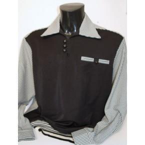 Black Gingham L/Sleeve Gaucho Shirt
