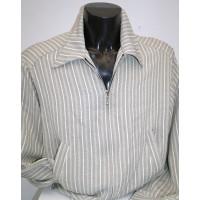 Grey Stripe Fleck Gab Jacket