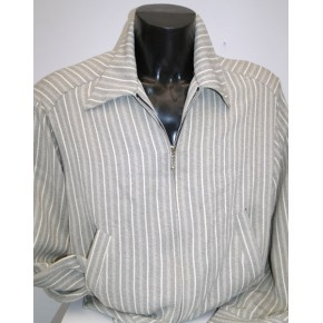 Grey Stripe Fleck Gab Jacket