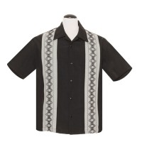 Steady - Black Guayabera Shirt