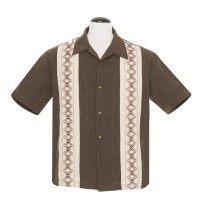 Steady - Brown Guayabera Shirt