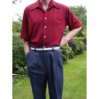 Airforce Blue Triple Pleat Trousers