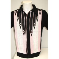 Black/Pink Diamond Knitted Shirt
