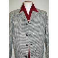 Black and White Gingham Hollywood Jacket