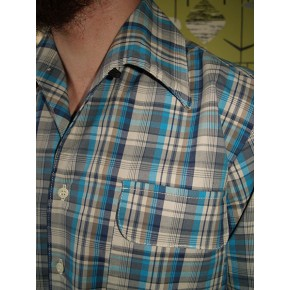The Ricardo - Blue Plaid Gab Shirt