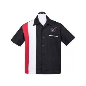 Steady - Black/Red Stay Tuned Shirt