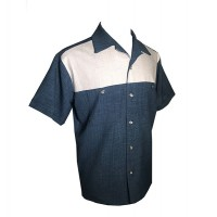 Swankys - 2 Tone Blue/Grey Fleck Shirt