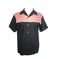Swankys - 2 Tone Black/Pink Fleck Shirt