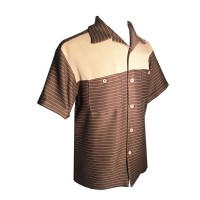 Swankys - 2 Tone Brown Stripe Shirt