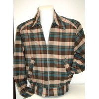Turq/Brown Plaid Ricky Jacket