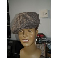 Baker Boy Cap - Brown Tweed