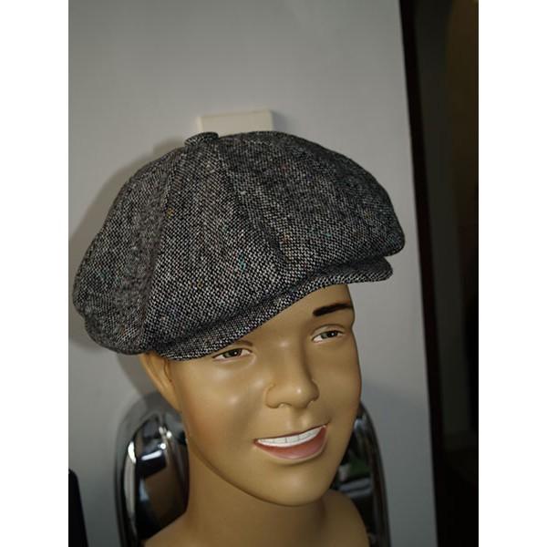 Baker Boy Cap Grey Tweed
