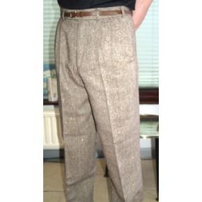 Gold Fleck Triple Pleat Trousers