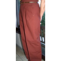 Burnt Orange High Waisted Trousers
