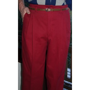 Claret High Waisted Trousers