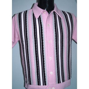 Pink Striped Knitted Shirt