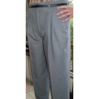 Silver Grey High Waisted Trousers