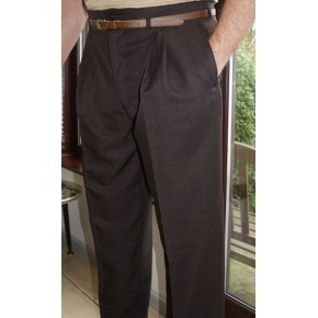 Chocolate Brown High Waisted Trousers