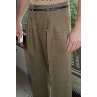 Olive High Waisted Trousers