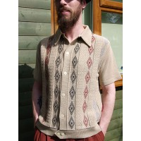 Beige 3 Diamond Knitted Shirt