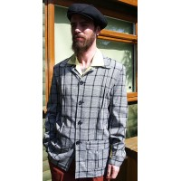 Black and White Check Hollywood Jacket