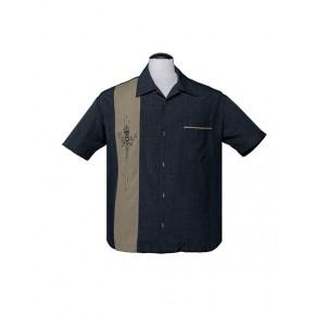 Charcoal Tiki Bamboo Shirt