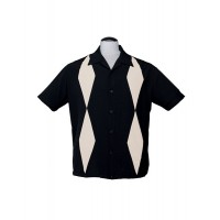 Steady - Black Diamond Duo Bowling Shirt