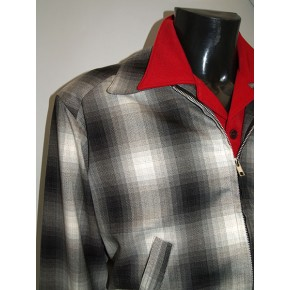 Grey Shadow Plaid Ricky Jacket