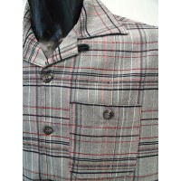 Grey Plaid Short Sleeve Shirt