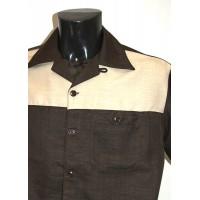 Brown/Cream Panel Shirt