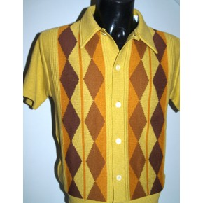 Mustard Argyll Knitted Shirt