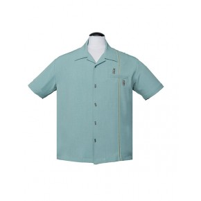 Steady - Mint Tiki Retro Stitch