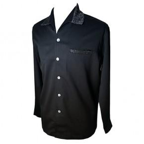 Swankys - Elvis Black/Lurex L/S Shirt